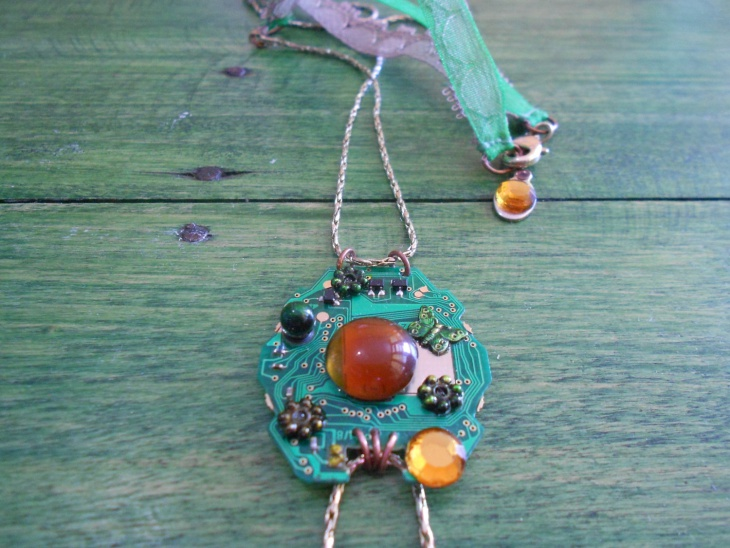 handmade circuit board jewelry design