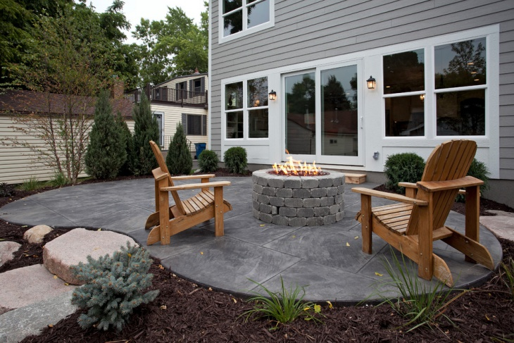 18+ Stained Concrete Patio Designs, Ideas | Design Trends ... on Backyard Masonry Ideas id=38277
