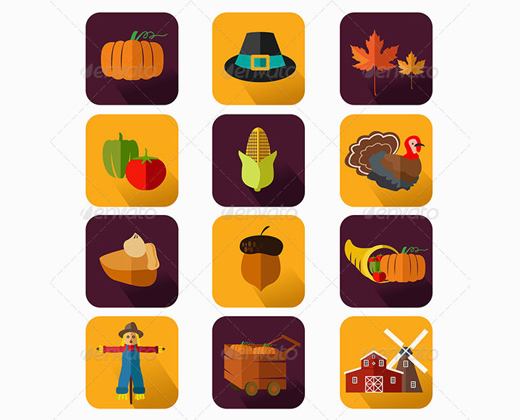 holiday thanksgiving icons