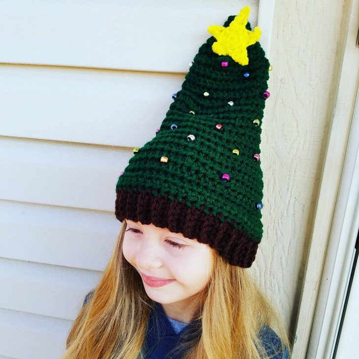 Christmas Tree Hat for Kids