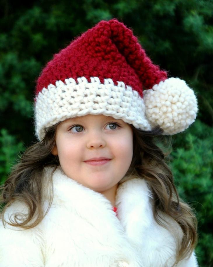 Crochet Christmas Santa Hat