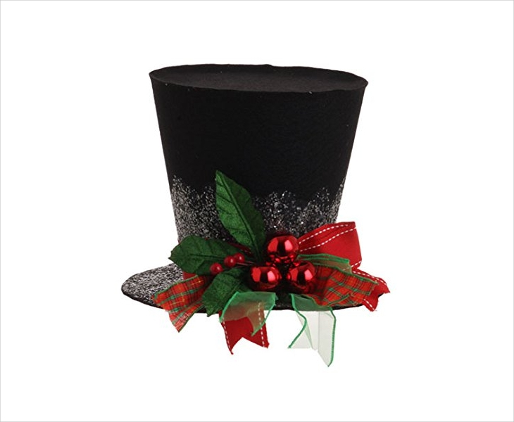 Christmas Holly Top Hat