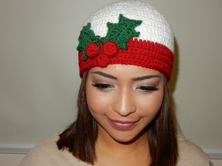 Red and White Crochet Christmas Hat