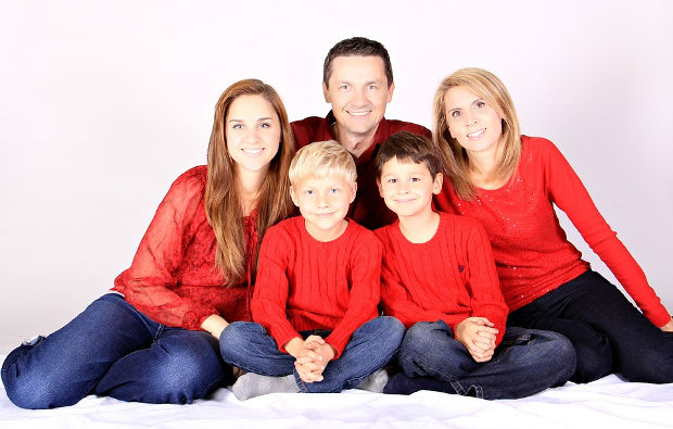 happy family portrait photography