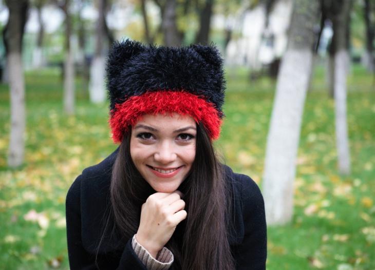 Fluffy Christmas Kint Hat