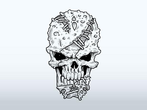 Mutanat Cartoon Skull Drawing