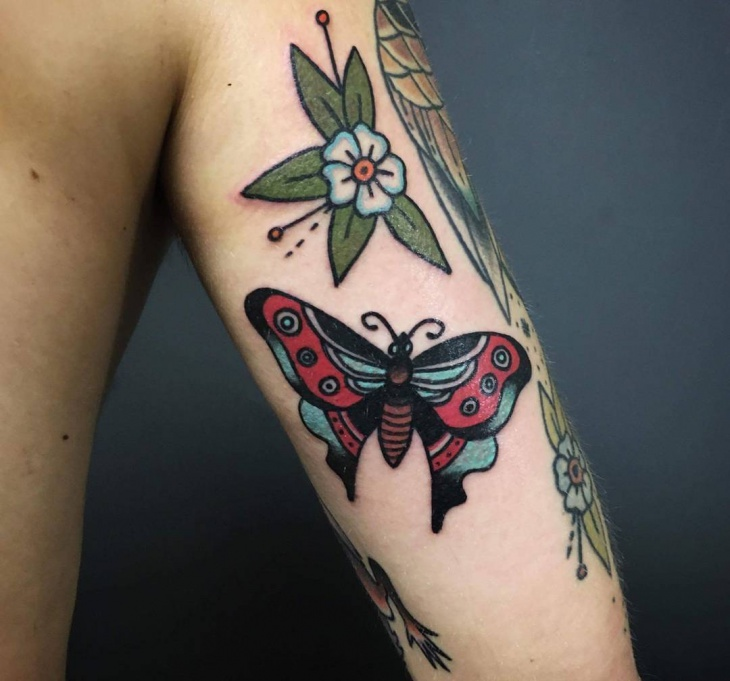 butterfly half sleeve tattoo design