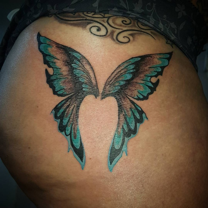 butterfly with angel wings tattoo