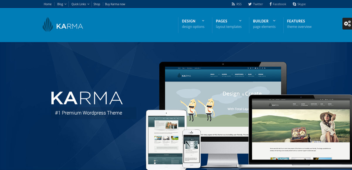 karma clean and modern wordpress theme