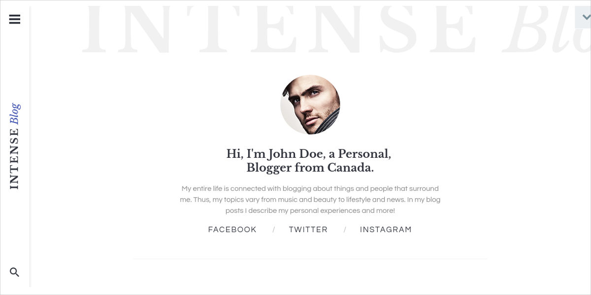 responsive personal blog website template