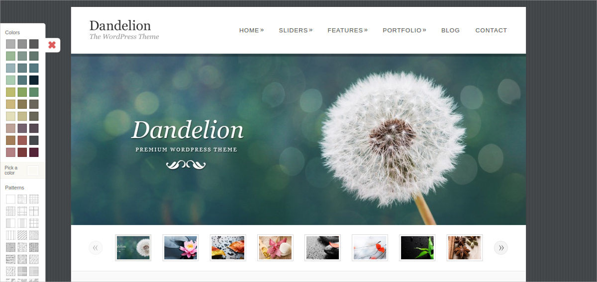 dandelion wordpress theme