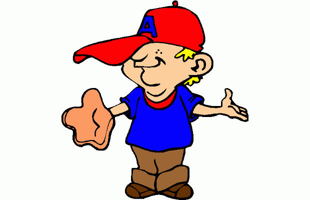 funny baseball player clipart