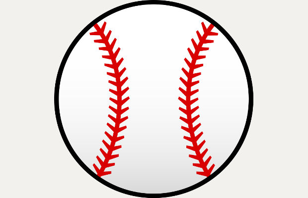 round baseball vector clipart