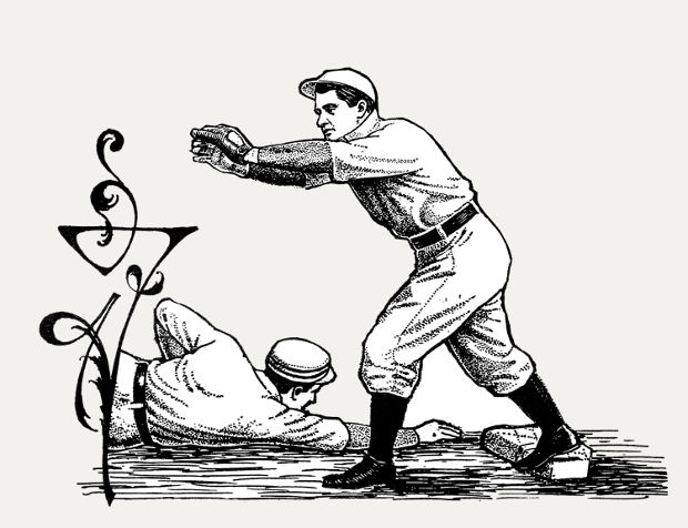 old vintage baseball clipart