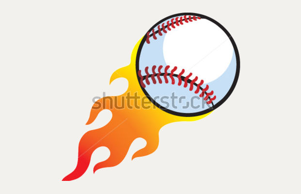 fire flaming baseball clipart