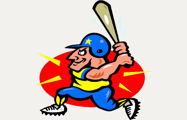 animated baseball boy clipart