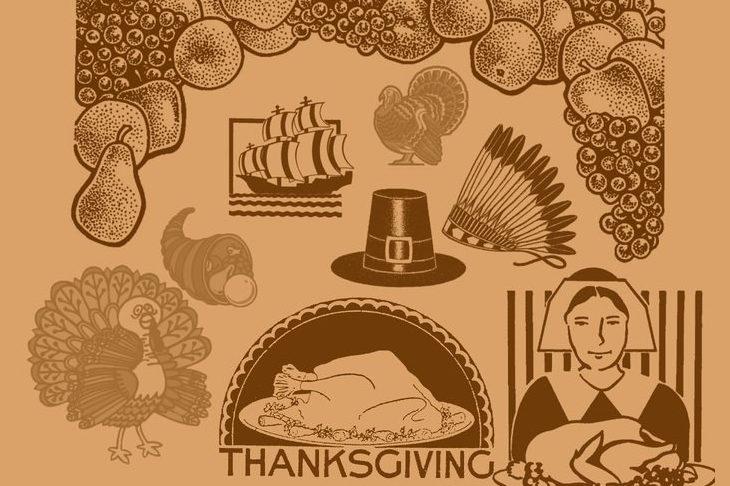 Thanksgiving Theme Photoshop Brushes