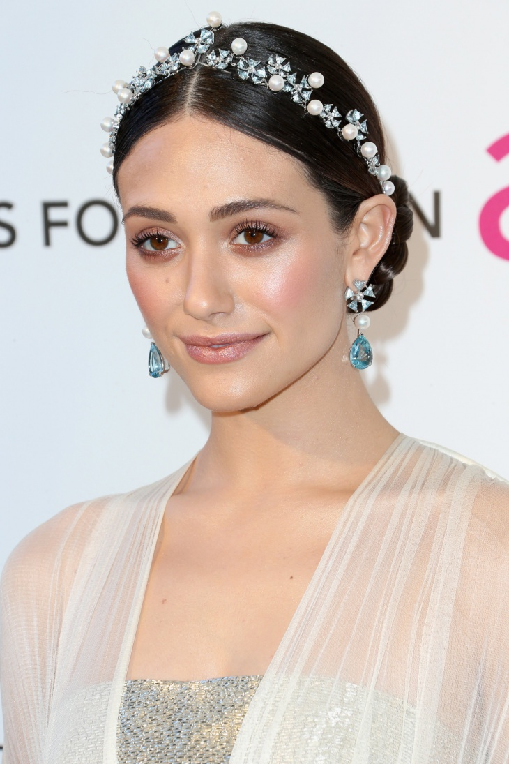 Emmy Rossum Crystal Hippie Headband