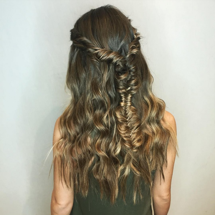 Bridal Hippie Hairstyle Design