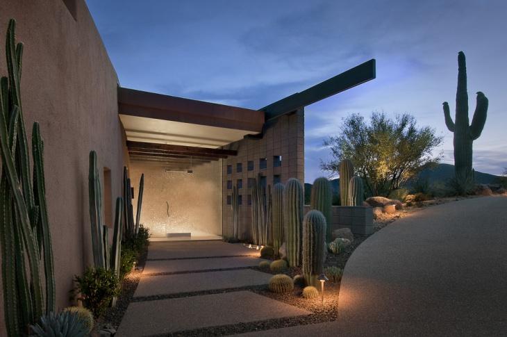 Entryway Cactus Garden Design