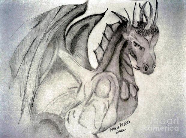 animal dragon heart drawing