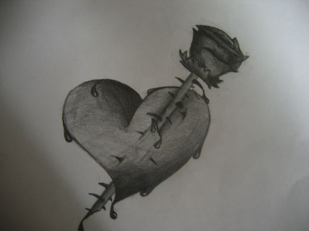 20 heart drawings art ideas design trends premium - Emo rose pictures ...