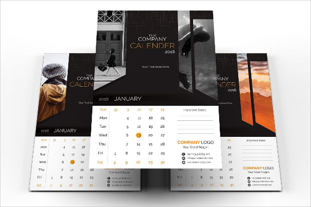 Corporate Calendar Design 2016 : Wall calendars psd ai indesign eps design