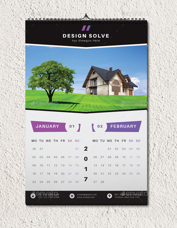 Wall Calendars  Psd Ai Indesign Eps  Design Trends