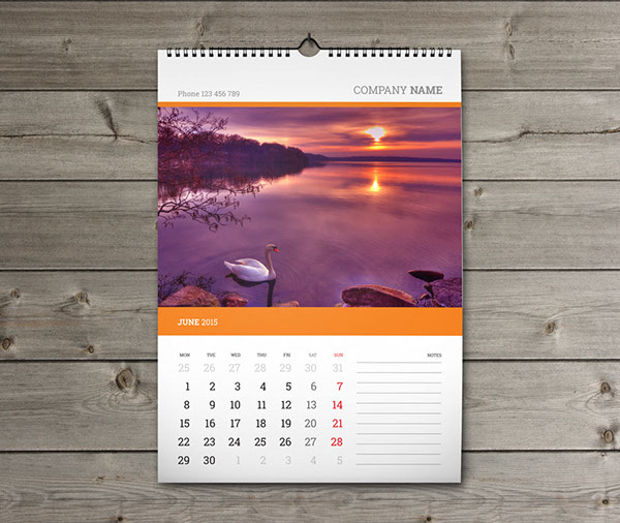 Calendar Design Photo : Wall calendars psd ai indesign eps design