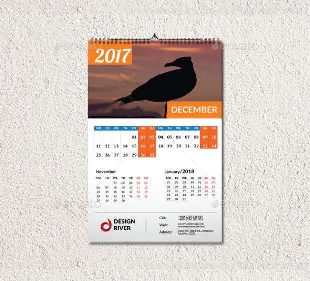 Wall Calendar Graphic Design : Wall calendars psd ai indesign eps design