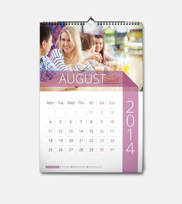 minimal wall calendar