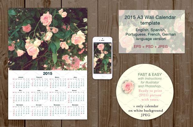 multi languauge wall calendar