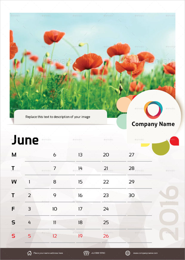 unique wall calendar