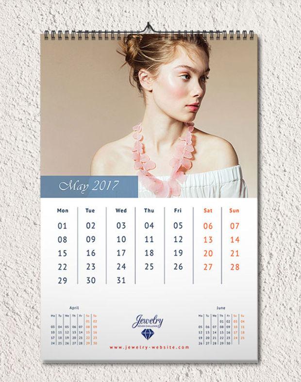 jewelry wall calendar