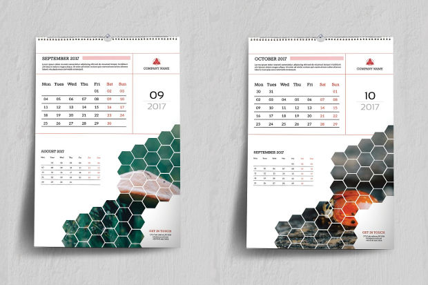 realistic wall calendar design