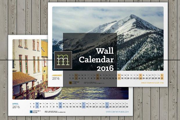 photorealistic wall calendar design