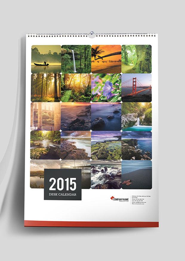 Minimalistic Calendar Design : Wall calendars psd ai indesign eps design