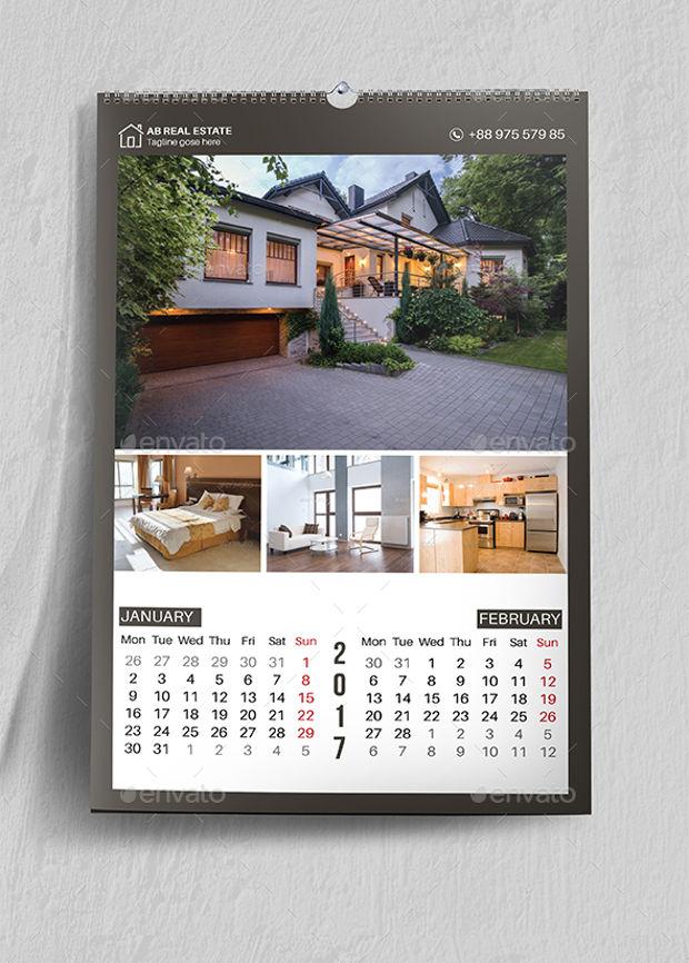 Real Estate Calendar Design : Wall calendars psd ai indesign eps design