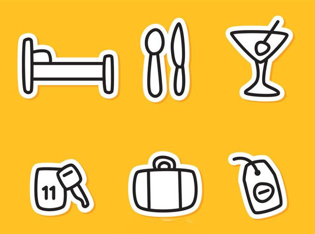 Vector Hotel Outline Icons