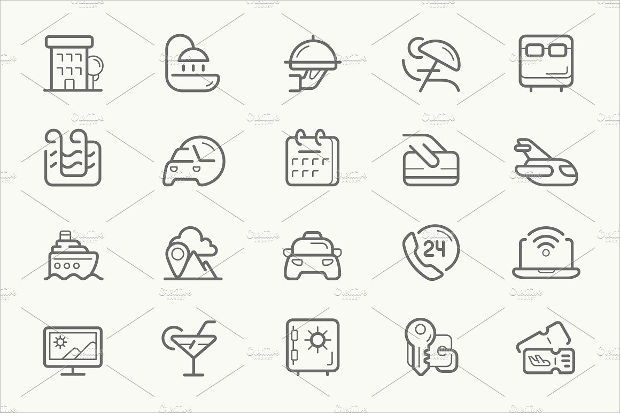 Hotel Service Line Icons