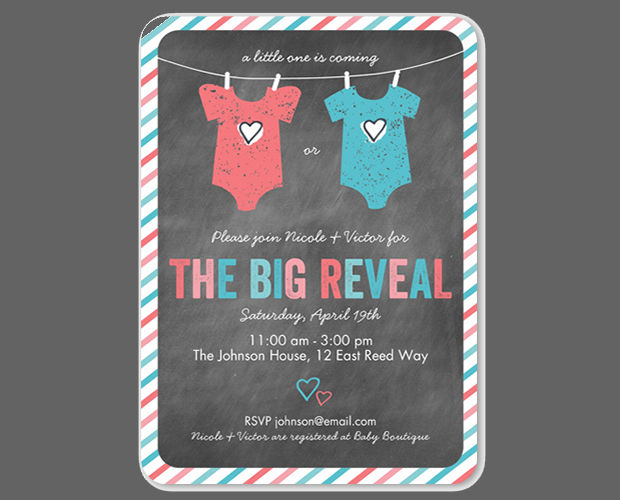 15+ Gender Reveal Invitations - Printable PSD, AI, EPS ...