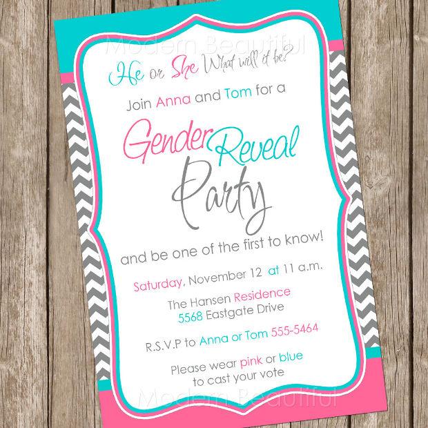 Baby Gender Reveal Invitation