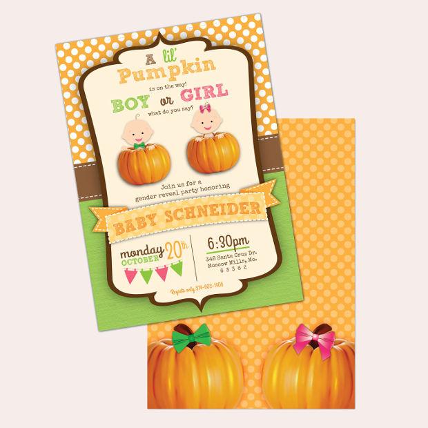 halloween gender reveal invitation