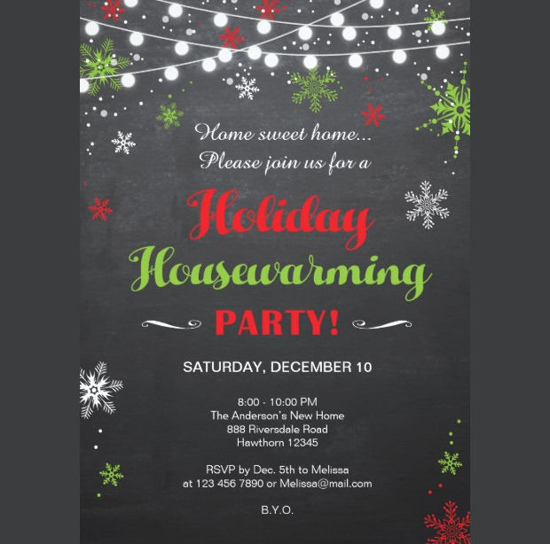 Holiday Housewarming Invitation