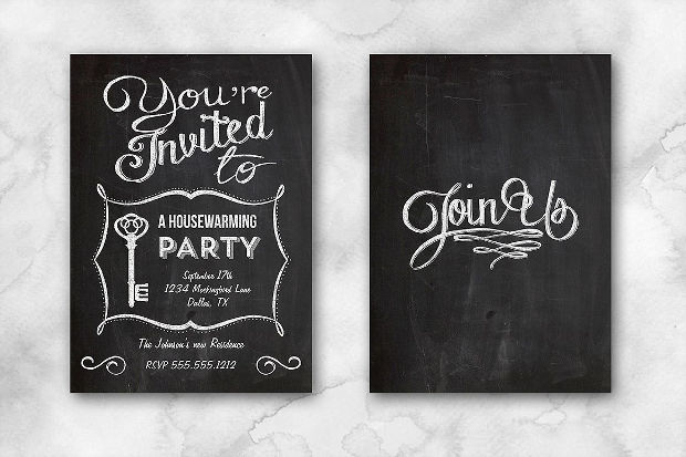 Chalkboard Housewarming Invitation
