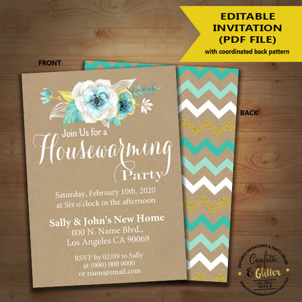 Flower Housewarming Invitation