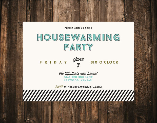 Simple Housewarming Invitation