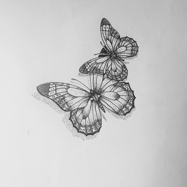 Simple Butterfly Drawing: 20+ Butterfly Drawings, Art Ideas