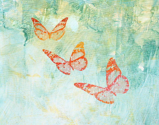 watercolor flying butterfly drawing