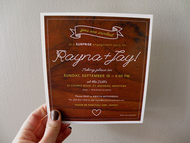 Printable Surprise Engagement Party Invitation